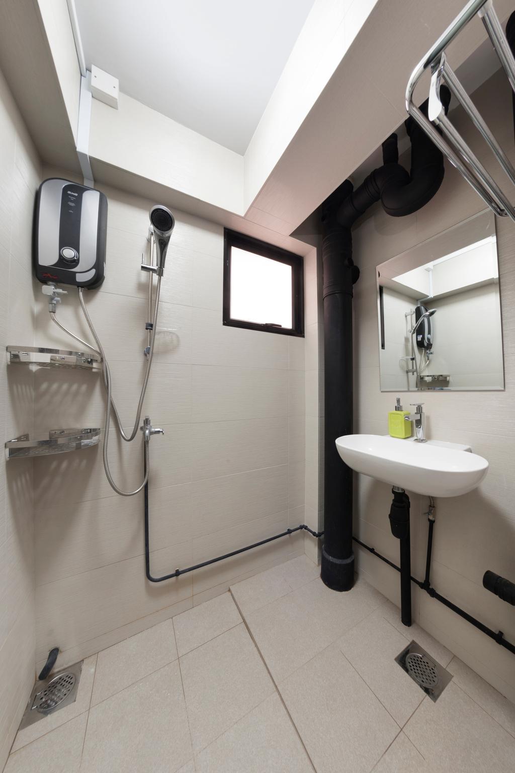 Eclectic, HDB, Bathroom, Everton Park, Interior Designer, Willis Design, Sink, Indoors, Interior Design, Room
