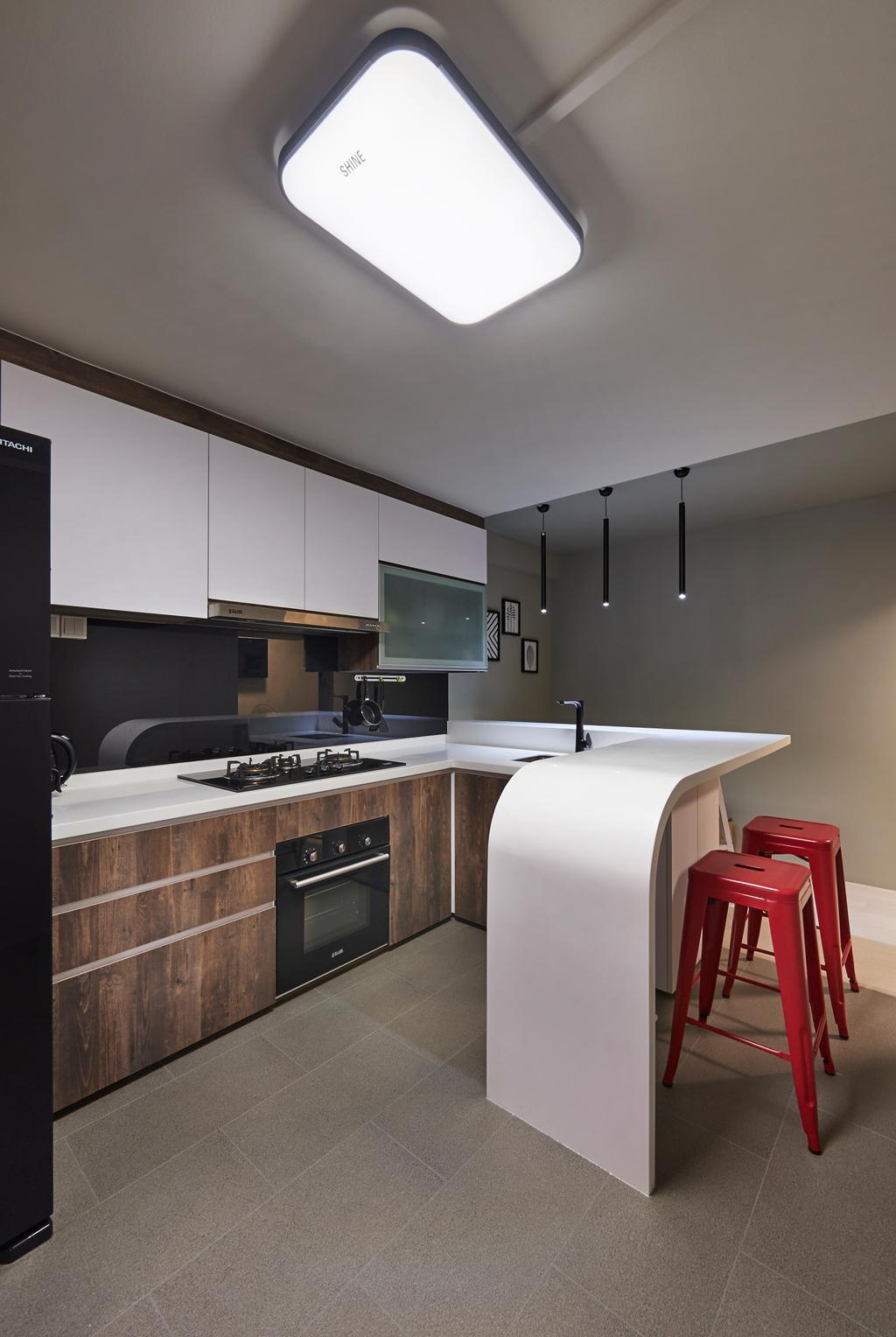 Eclectic, HDB, Kitchen, Everton Park, Interior Designer, Willis Design, Appliance, Electrical Device, Oven, Bar Stool, Furniture, Indoors, Interior Design, Room