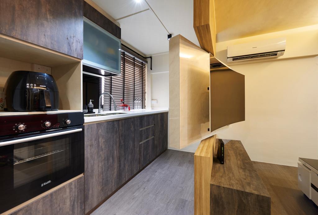 Eclectic, HDB, Kitchen, Everton Park, Interior Designer, Willis Design, Indoors, Interior Design, Room, Appliance, Electrical Device, Oven, Plywood, Wood
