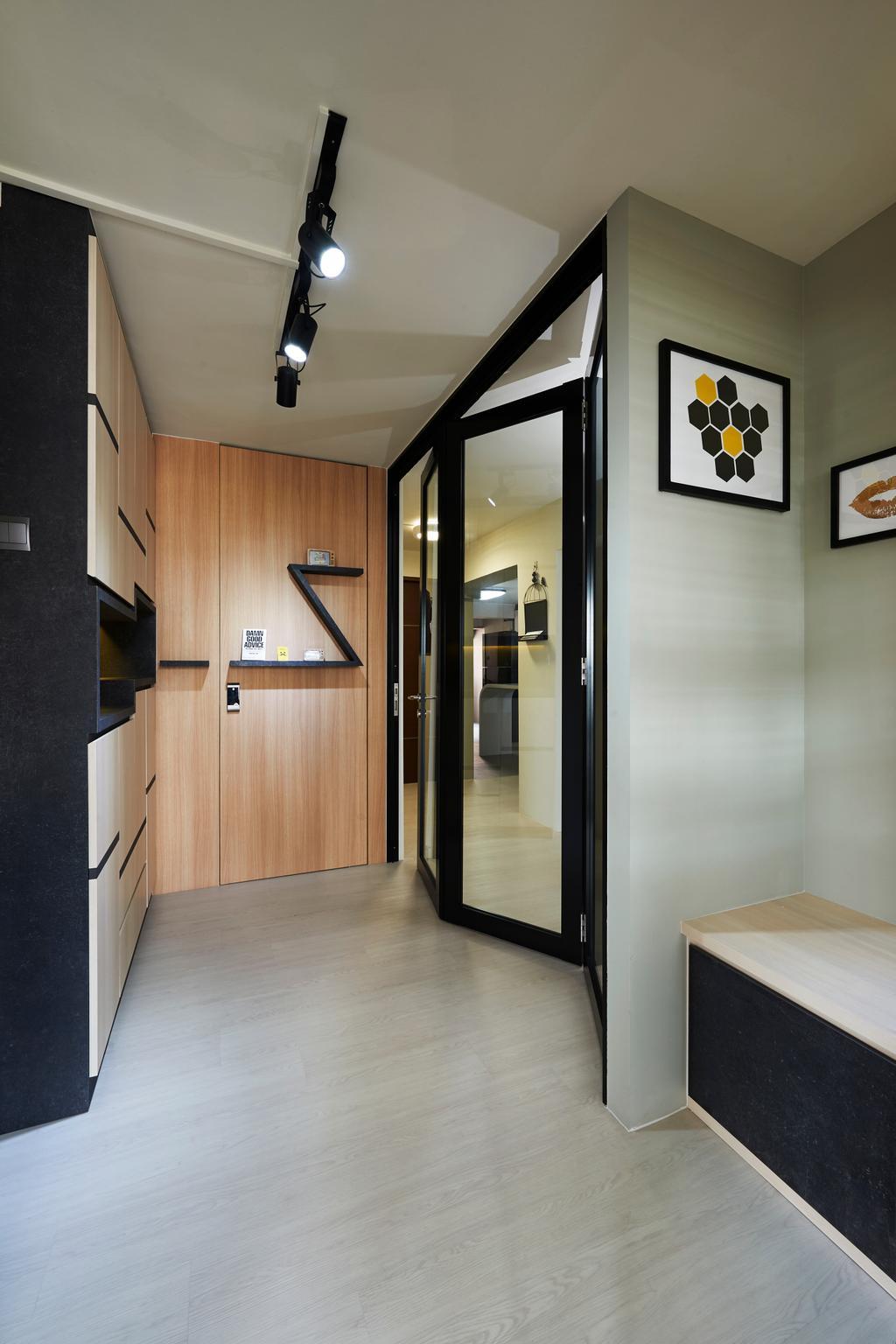 Eclectic, HDB, Living Room, Everton Park, Interior Designer, Willis Design, Corridor