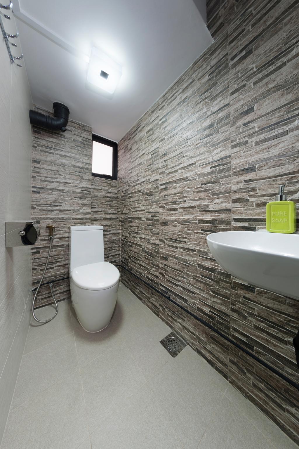 Eclectic, HDB, Bathroom, Everton Park, Interior Designer, Willis Design, Brick, Indoors, Interior Design, Room