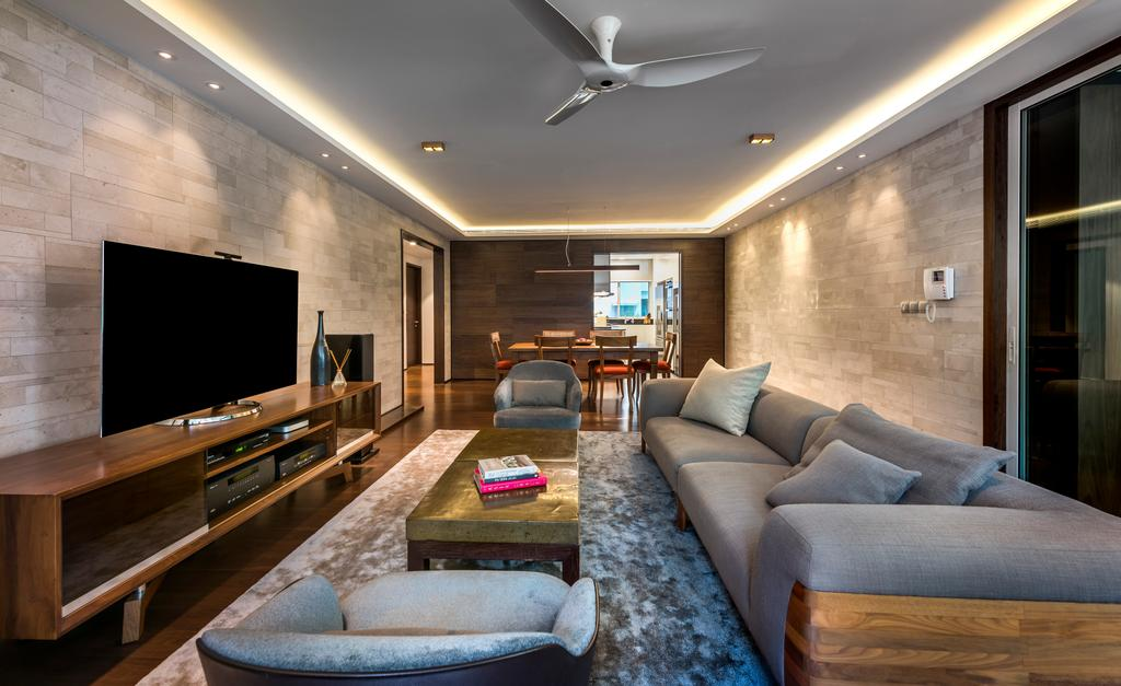 Contemporary, Condo, Living Room, Lloyd Road, Interior Designer, akiHAUS, Couch, Furniture, Propeller, Indoors, Room, Chair