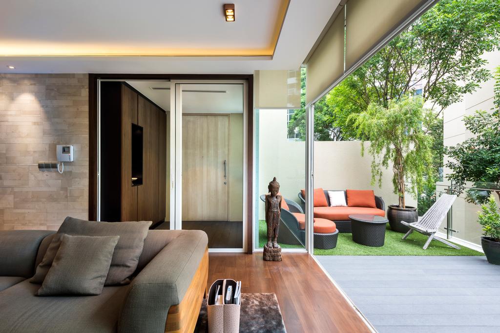 Contemporary, Condo, Living Room, Lloyd Road, Interior Designer, akiHAUS, Couch, Furniture, Indoors, Interior Design