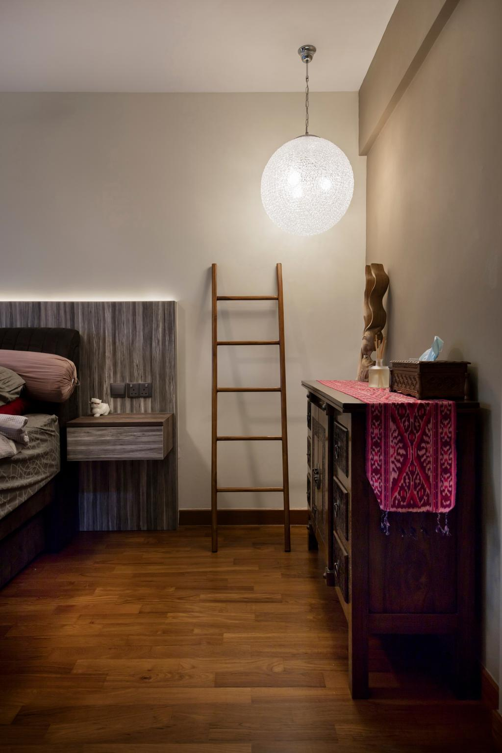 Traditional, HDB, Bedroom, Punggol Way (Block 315A), Interior Designer, Tan Studio, Shelf