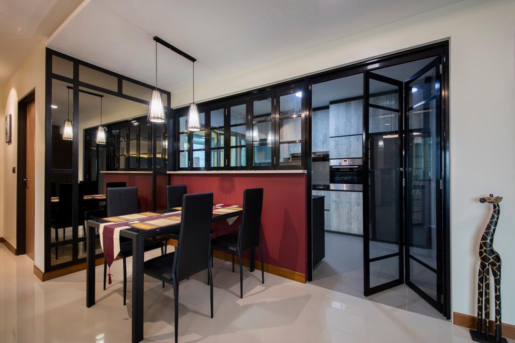 Traditional, HDB, Dining Room, Punggol Way (Block 315A), Interior Designer, Tan Studio, Chair, Furniture, Couch, Dining Table, Table, Indoors, Interior Design, Room