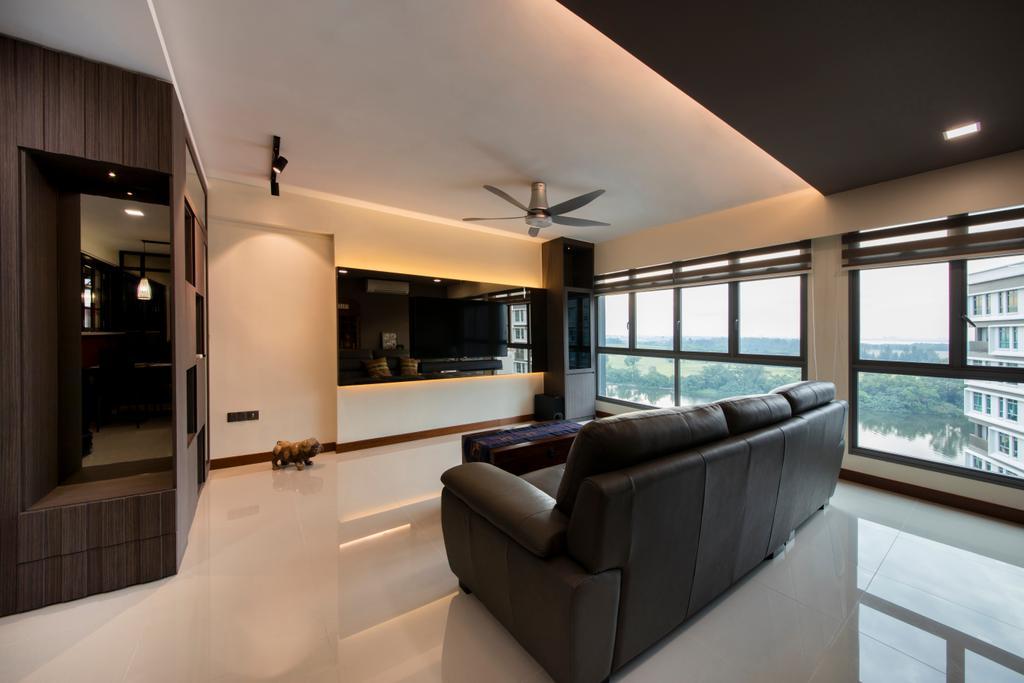 Traditional, HDB, Living Room, Punggol Way (Block 315A), Interior Designer, Tan Studio, Couch, Furniture, Indoors, Interior Design