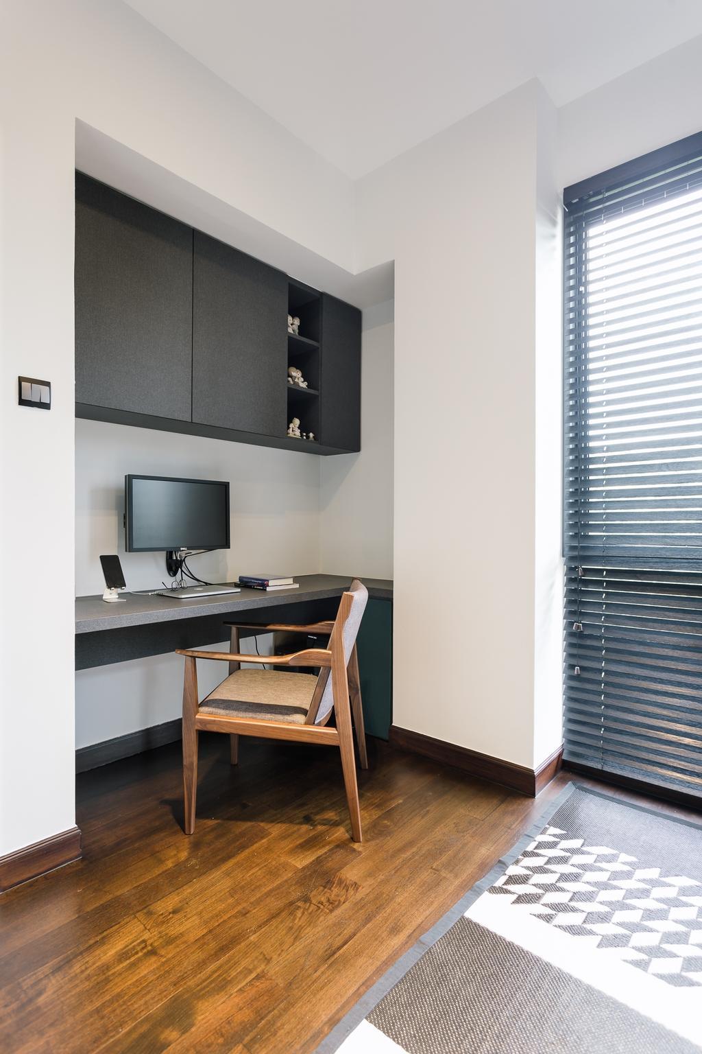Contemporary, Condo, Study, Glendale Park, Interior Designer, Habit, Chair, Furniture, Electronics, Lcd Screen, Monitor, Screen, Sink