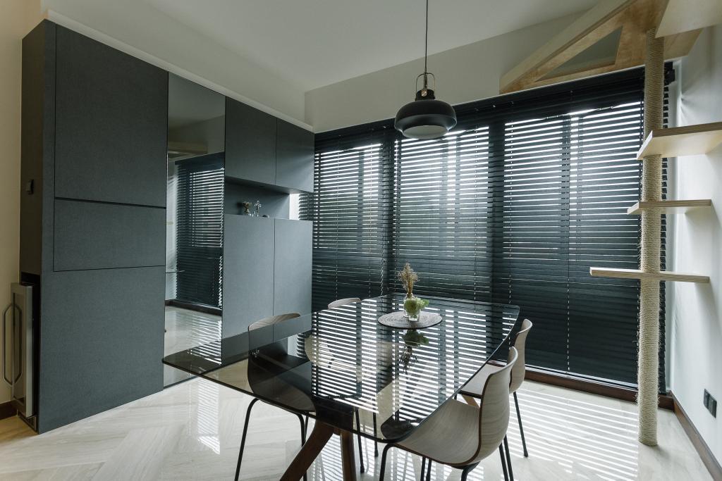 Contemporary, Condo, Dining Room, Glendale Park, Interior Designer, Habit, Chair, Furniture