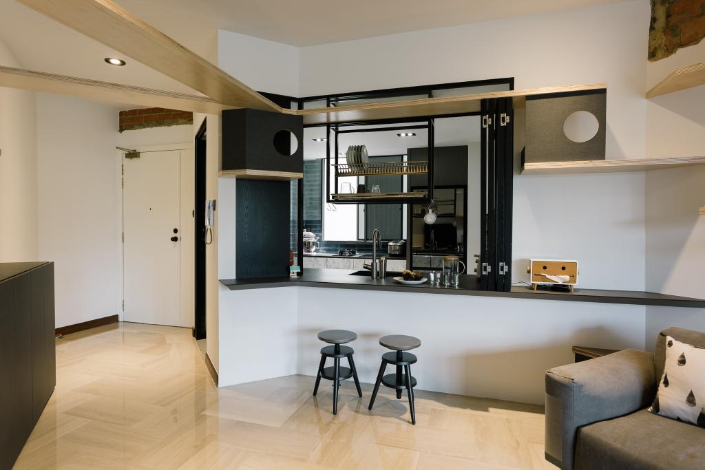 Contemporary, Condo, Kitchen, Glendale Park, Interior Designer, Habit, Couch, Furniture, Bar Stool, Flooring, Dining Table, Table