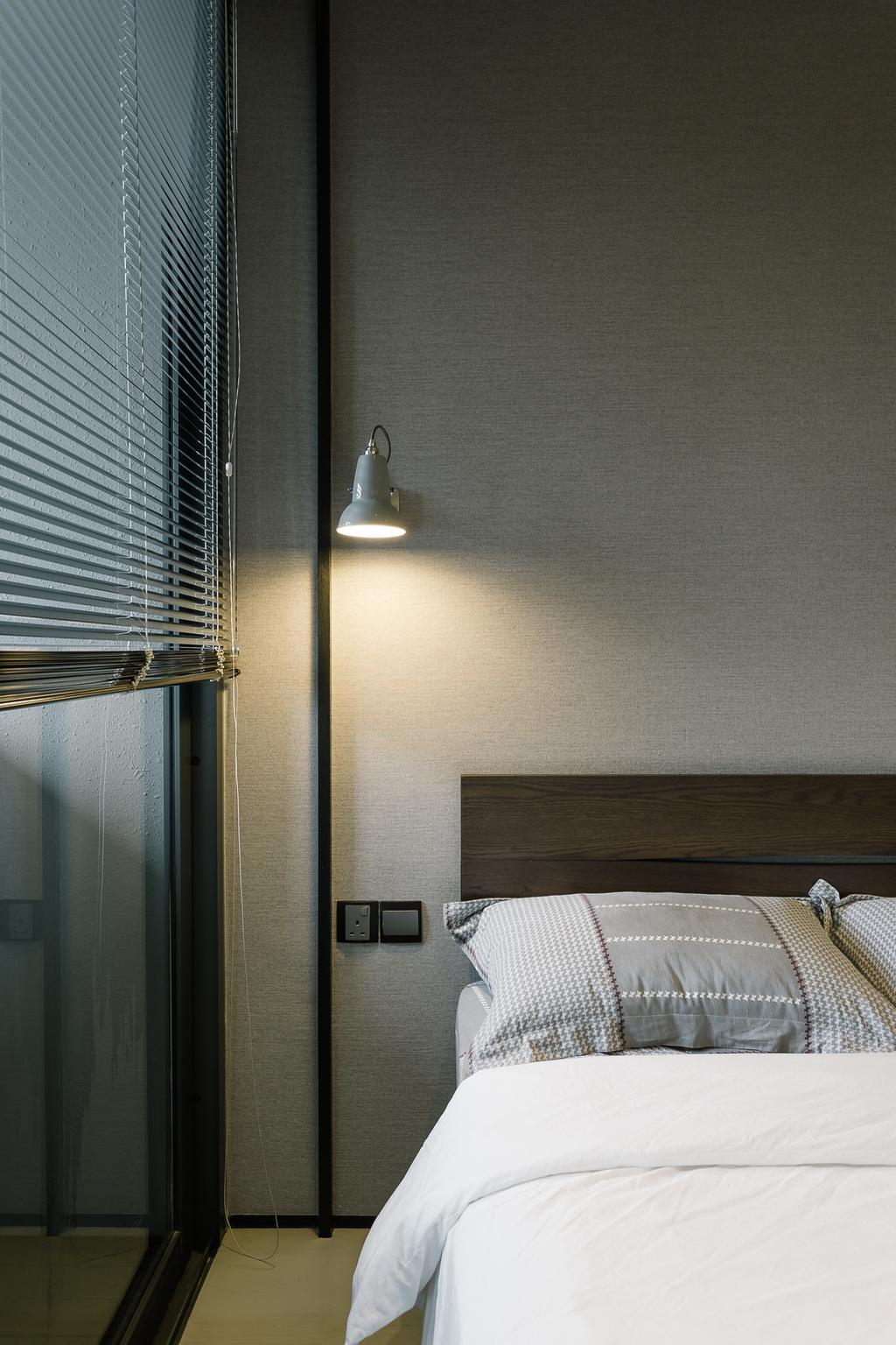 Contemporary, Condo, Bedroom, OUE Twin Peak, Interior Designer, Habit, Light Fixture