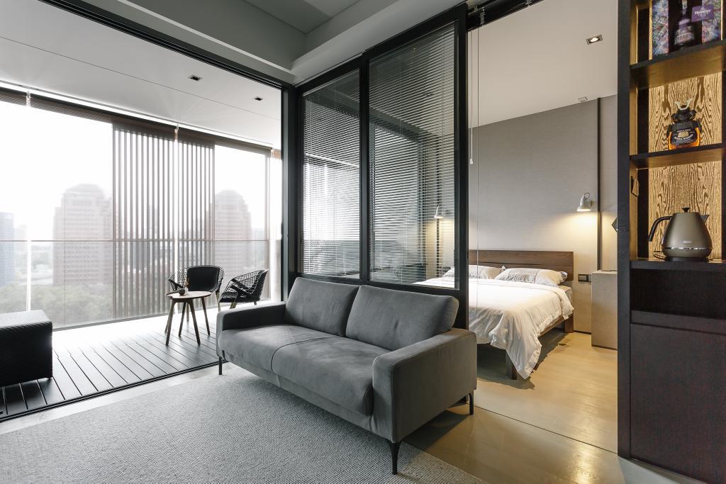 Contemporary, Condo, Living Room, OUE Twin Peak, Interior Designer, Habit, Couch, Furniture