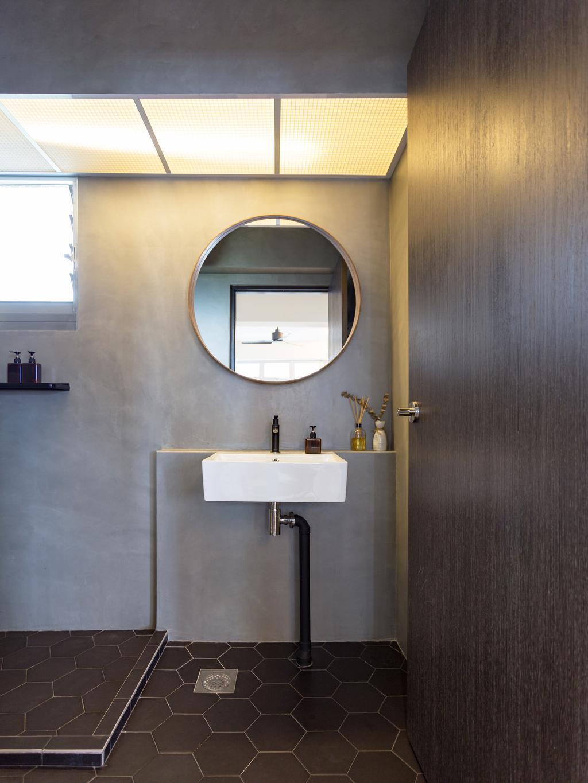 Contemporary, HDB, Bathroom, Tampines Avenue 8, Interior Designer, Prozfile Design, Indoors, Interior Design, Room, Sink