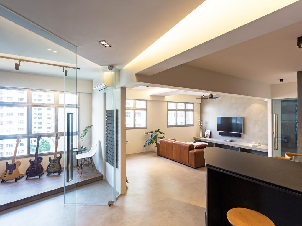 Contemporary, HDB, Study, Tampines Avenue 8, Interior Designer, Prozfile Design, Indoors, Interior Design