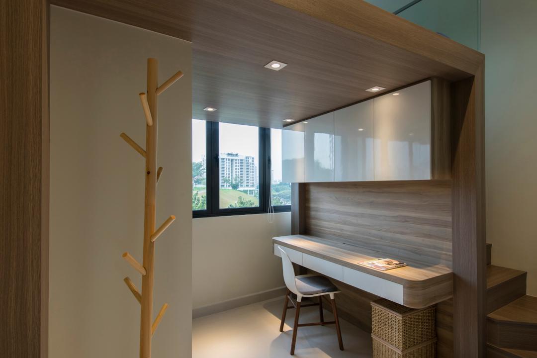 Urban Vista, Aart Boxx Interior, Minimalistic, Study, Condo, Dining Table, Furniture, Table, Chair, Billiard Room, Indoors, Pool Table, Room, Window