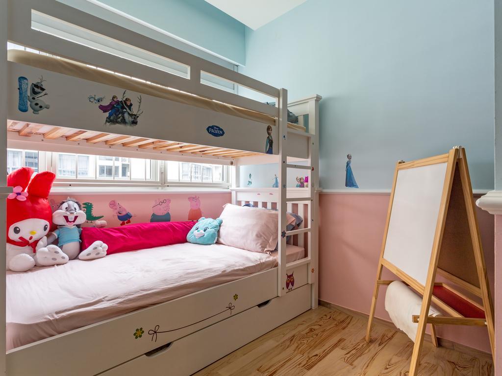 Eclectic, Condo, Bedroom, Heron Bay, Interior Designer, Prozfile Design, Kids Room, Easel, Double Decker, Girls Room, Chair, Furniture