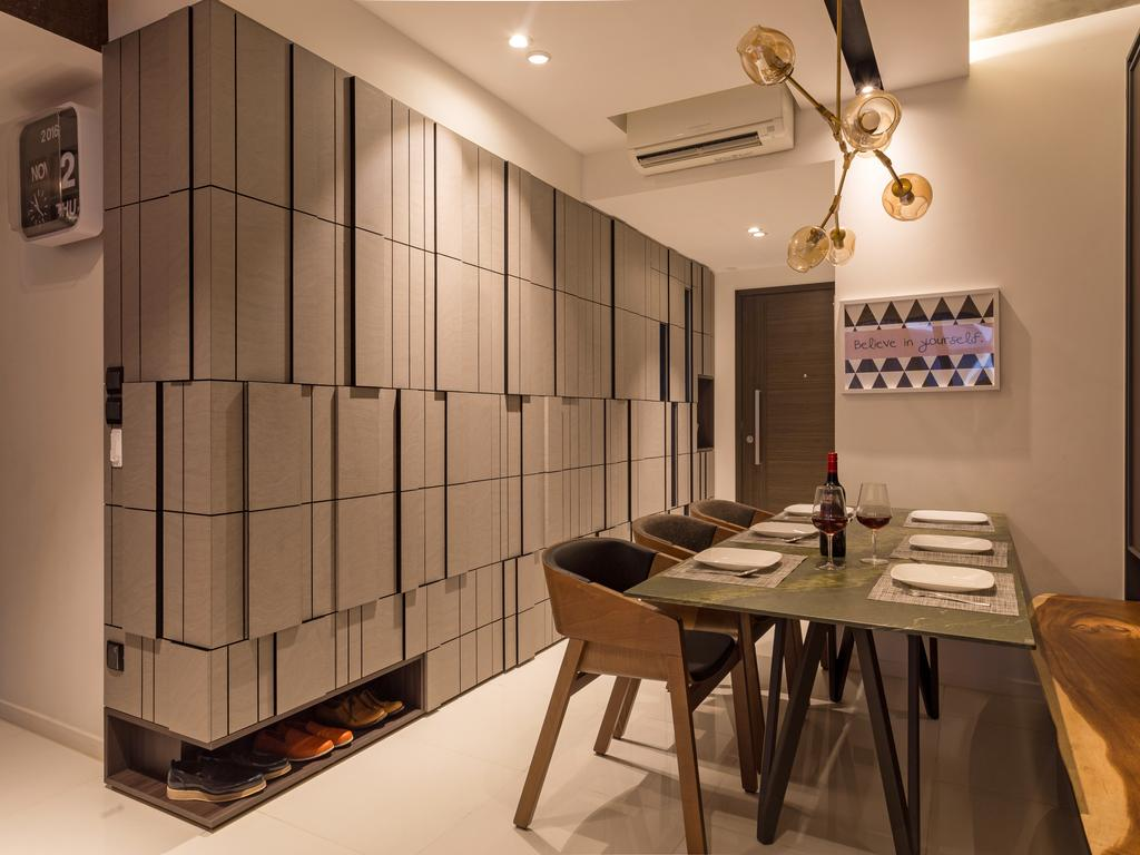 Eclectic, Condo, Dining Room, Heron Bay, Interior Designer, Prozfile Design, Dining Table, Furniture, Table, Chair, Appliance, Electrical Device, Oven, Indoors, Interior Design, Room