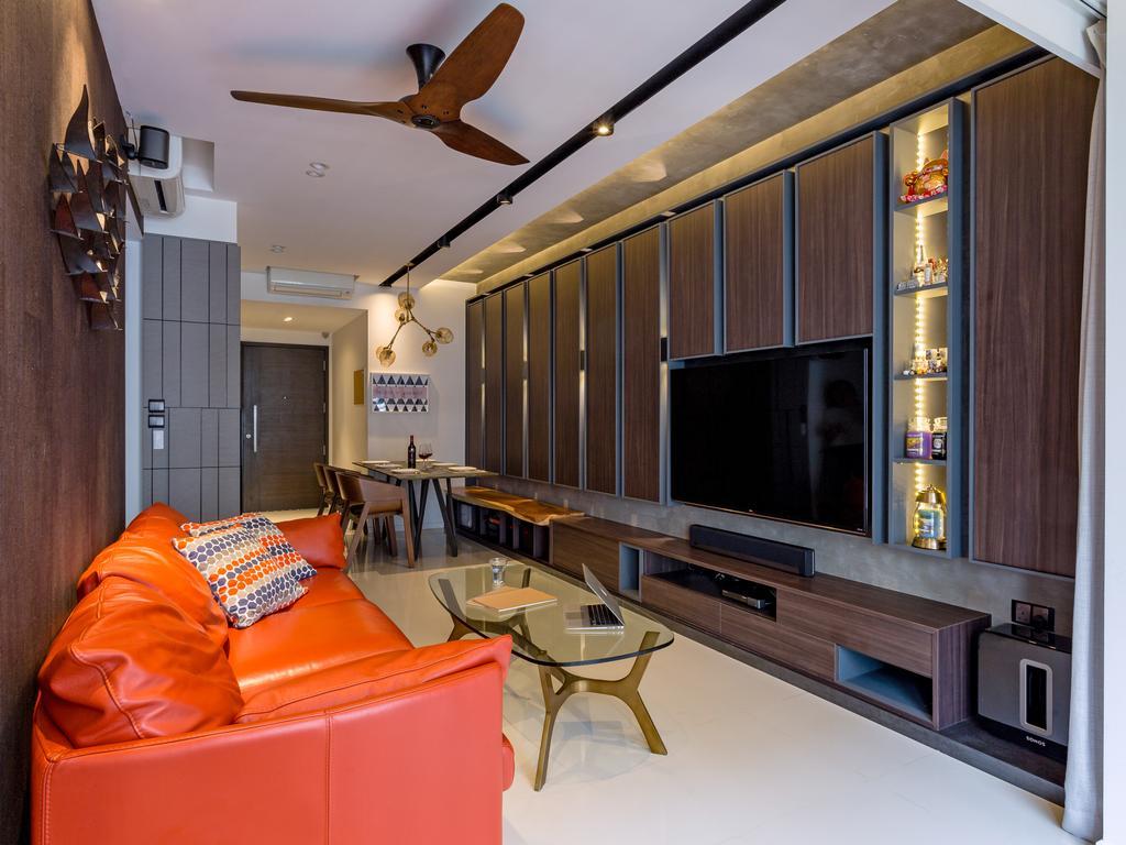 Eclectic, Condo, Living Room, Heron Bay, Interior Designer, Prozfile Design, Couch, Furniture