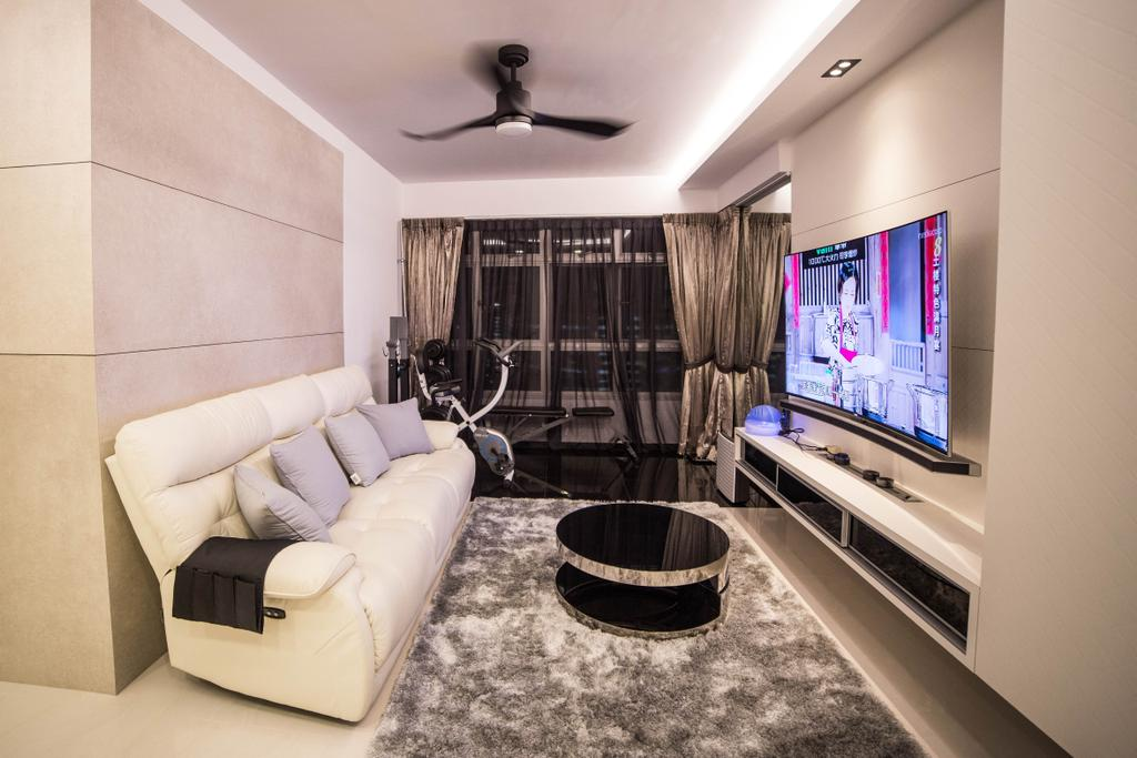 Modern, HDB, Living Room, Yishun Street 51 (Block 502D), Interior Designer, MET Interior, Couch, Furniture, Indoors, Room