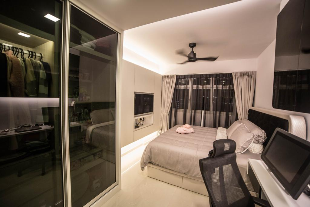 Modern, HDB, Bedroom, Yishun Street 51 (Block 502D), Interior Designer, MET Interior, Indoors, Interior Design, Room, Bed, Furniture