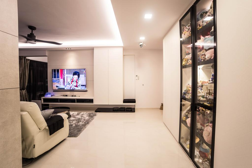 Modern, HDB, Living Room, Yishun Street 51 (Block 502D), Interior Designer, MET Interior, Couch, Furniture
