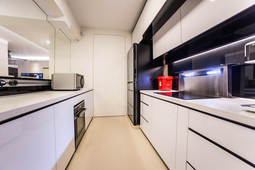 Modern, HDB, Kitchen, Yishun Street 51 (Block 502D), Interior Designer, MET Interior