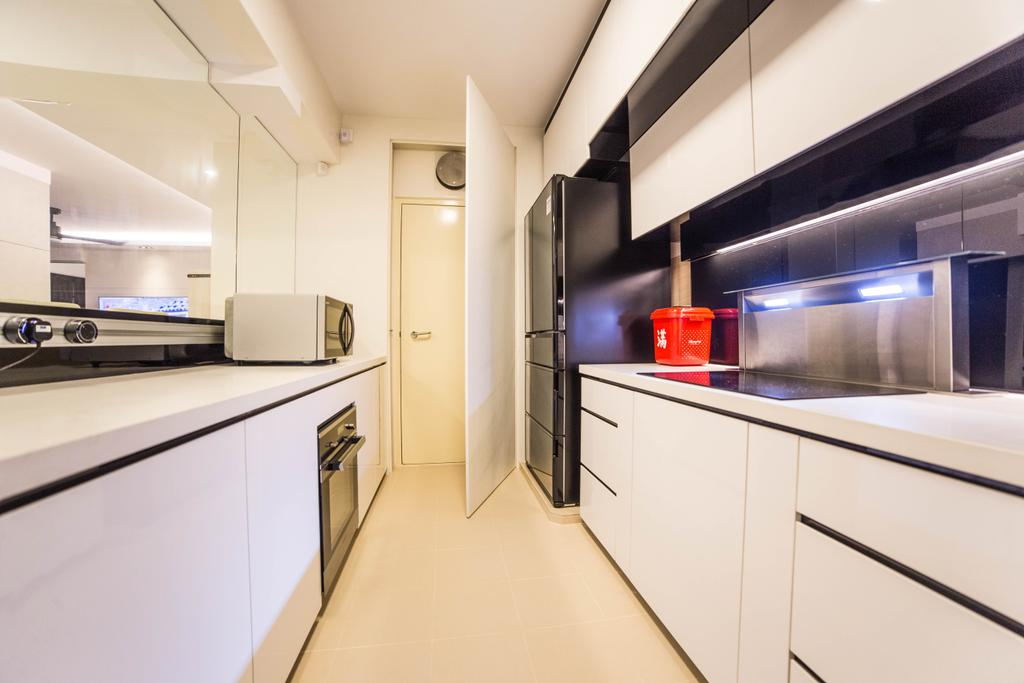 Modern, HDB, Kitchen, Yishun Street 51 (Block 502D), Interior Designer, MET Interior, Indoors, Interior Design