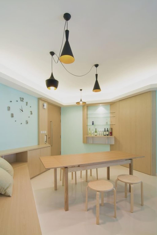 Minimalistic, HDB, Dining Room, MK Residence, Architect, OWMF Architecture, Indoors, Interior Design, Room