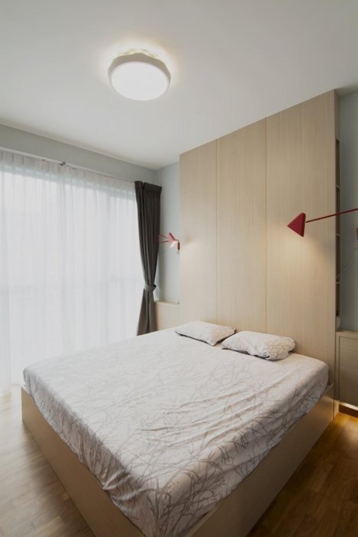 Minimalistic, HDB, Bedroom, MK Residence, Architect, OWMF Architecture, Simple, Airy, Bright, Light, Oak, Indoors, Interior Design, Room
