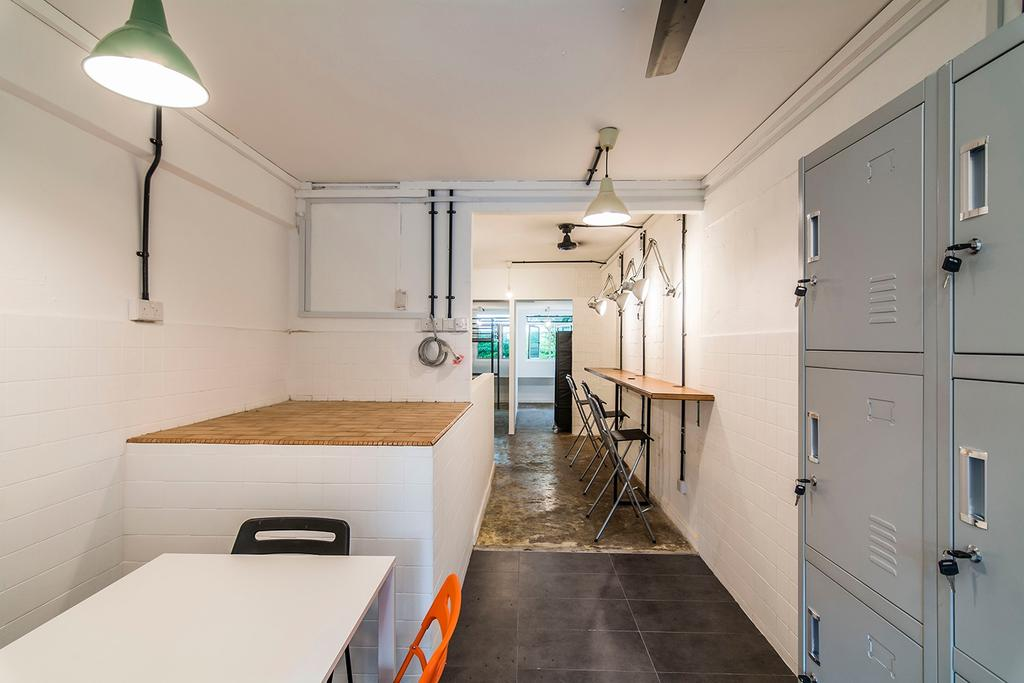 Shophouse - Office + Residence, Commercial, Architect, OWMF Architecture, Industrial, Lamp, HDB, Building, Housing, Indoors