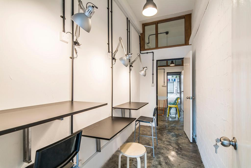 Shophouse - Office + Residence, Commercial, Architect, OWMF Architecture, Industrial, Chair, Furniture, Dining Table, Table, HDB, Building, Housing, Indoors