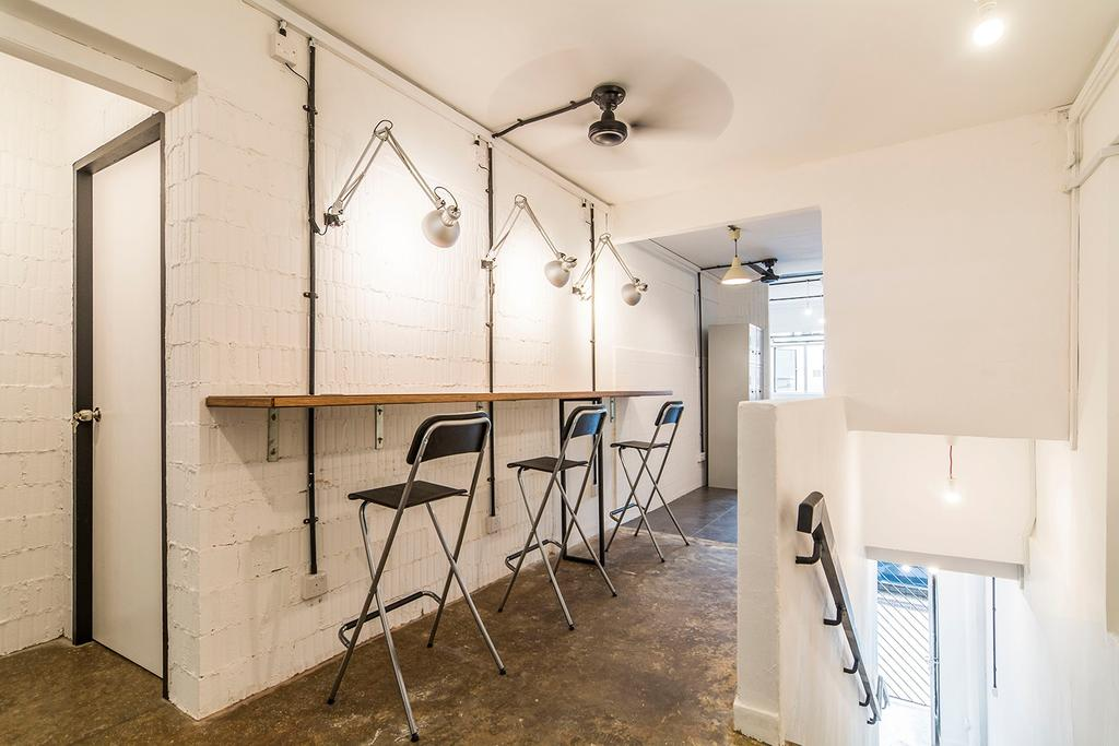 Shophouse - Office + Residence, Commercial, Architect, OWMF Architecture, Industrial, Chair, Furniture, HDB, Building, Housing, Indoors