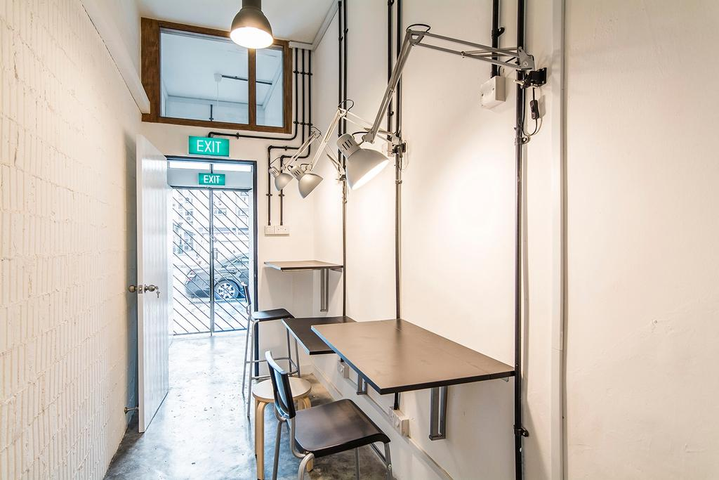 Shophouse - Office + Residence, Commercial, Architect, OWMF Architecture, Industrial, Banister, Handrail, Dining Table, Furniture, Table, Chair