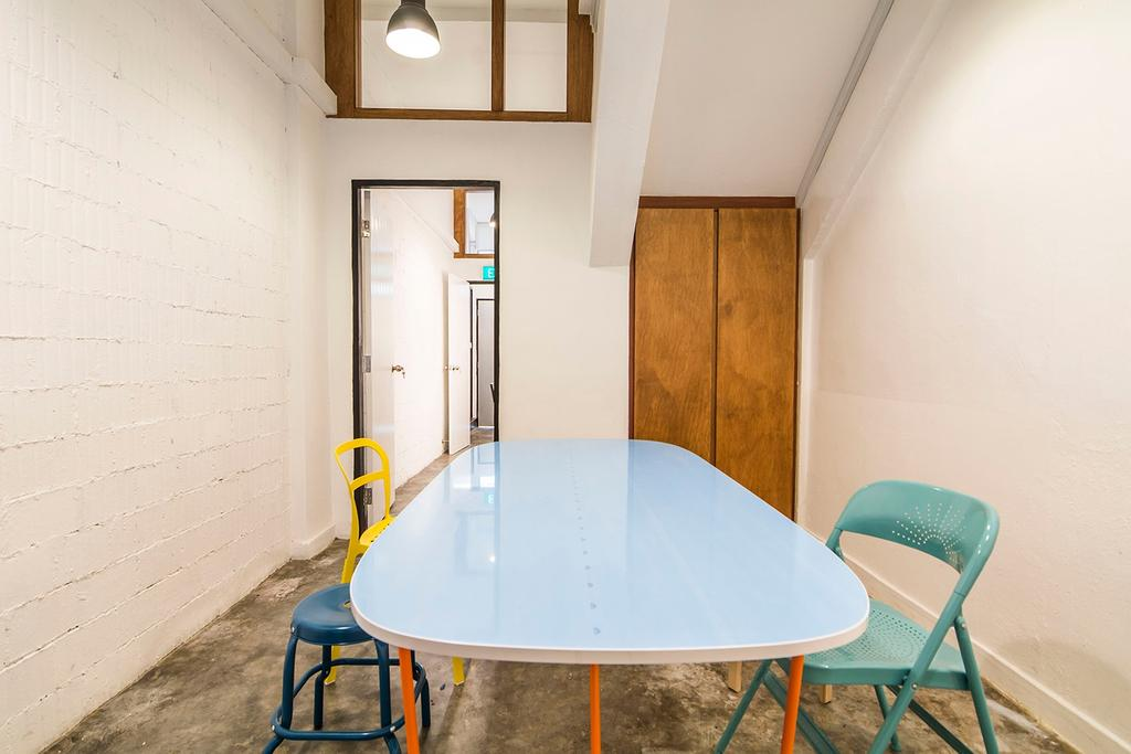 Shophouse - Office + Residence, Commercial, Architect, OWMF Architecture, Industrial, Chair, Furniture, Dining Table, Table, Dining Room, Indoors, Interior Design, Room