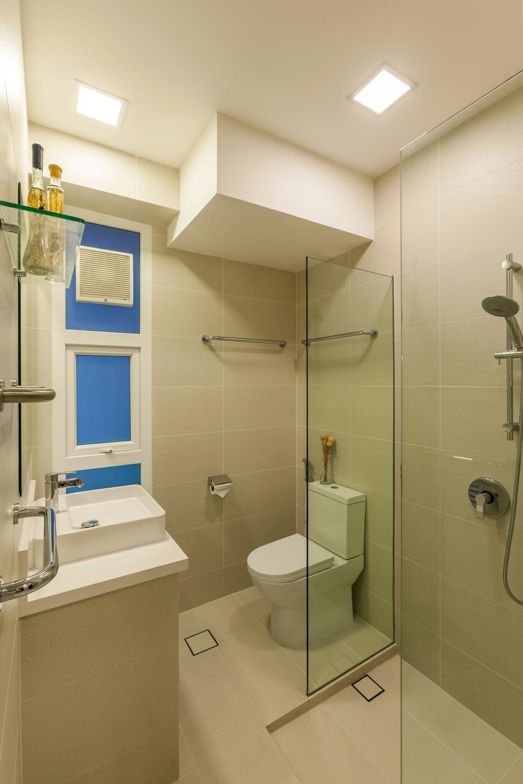 Vintage, Condo, Bathroom, Loyang Valley, Interior Designer, The Interior Lab, Traditional, Indoors, Interior Design, Sink, Room