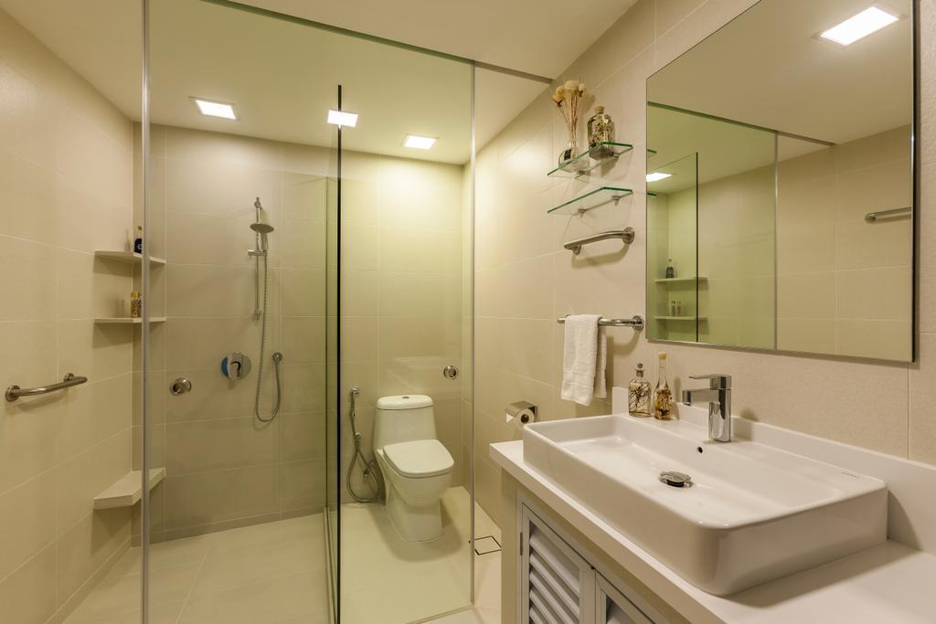 Vintage, Condo, Bathroom, Loyang Valley, Interior Designer, The Interior Lab, Traditional, Toilet, Indoors, Interior Design, Room