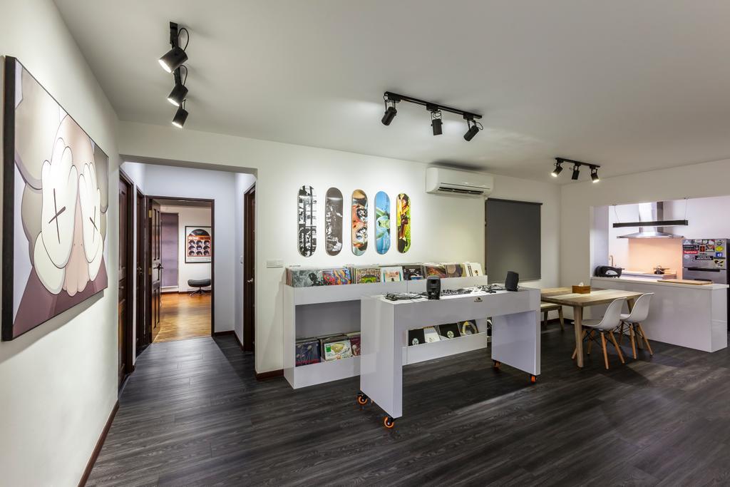 Contemporary, HDB, Compassvale Crescent (Block 286), Interior Designer, The Interior Lab, Scandinavian, Dining Table, Furniture, Table