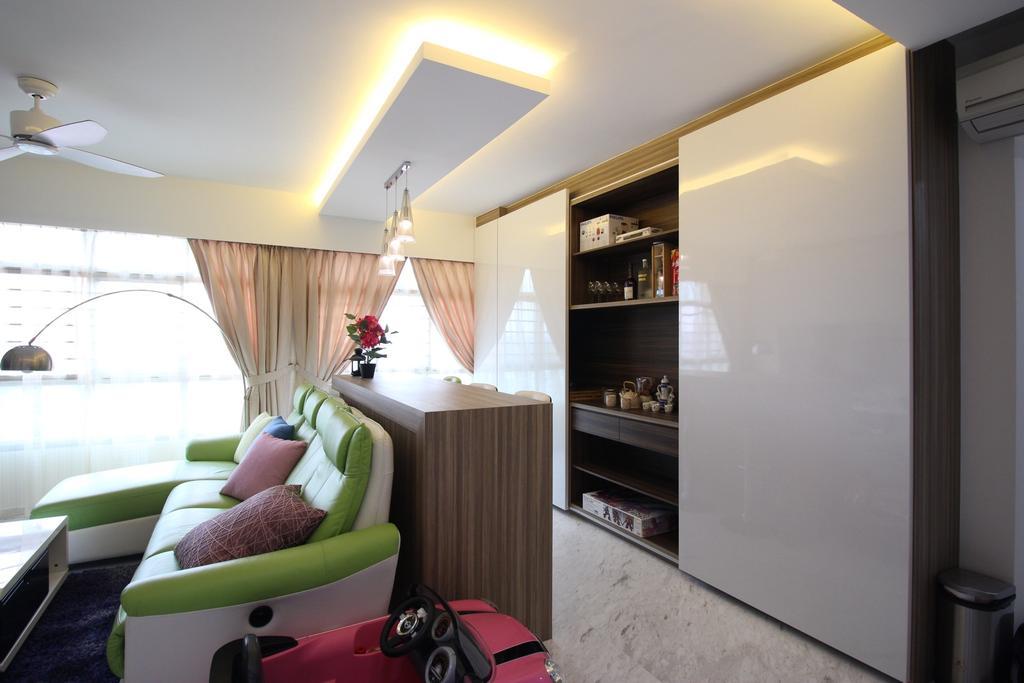Contemporary, HDB, Living Room, Yishun Avenue 1 (Block 432B), Interior Designer, ChanInteriors