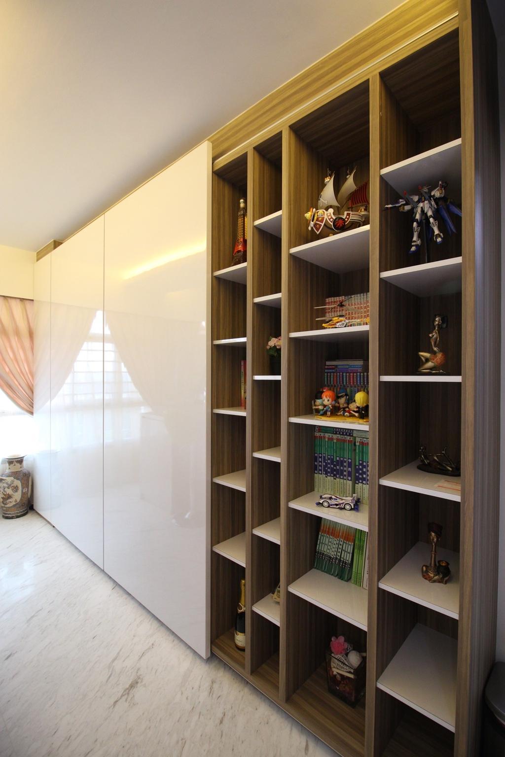 Contemporary, HDB, Living Room, Yishun Avenue 1 (Block 432B), Interior Designer, ChanInteriors, Bookcase, Furniture