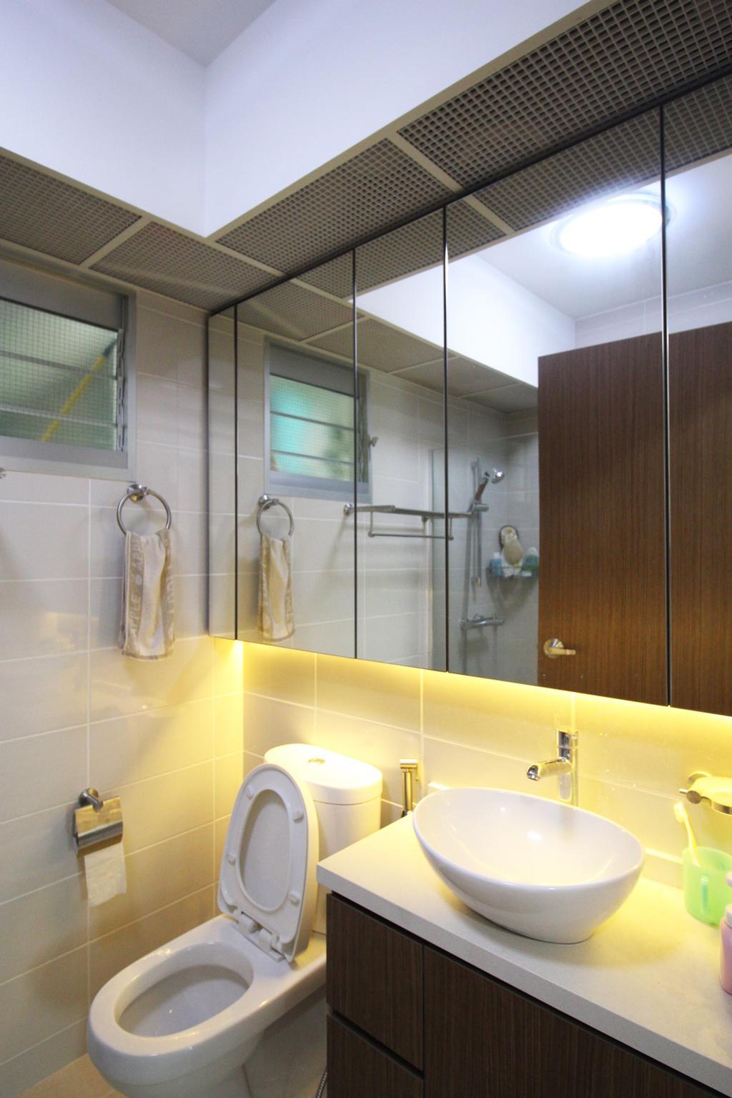 Contemporary, HDB, Bathroom, Yishun Avenue 1 (Block 432B), Interior Designer, ChanInteriors, Indoors, Interior Design, Room