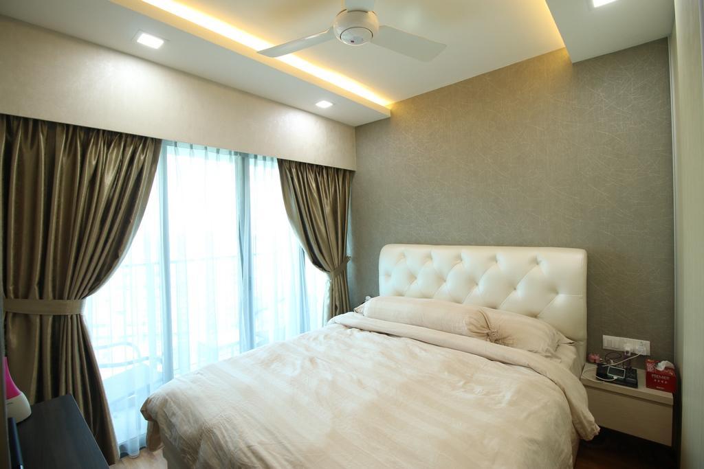 Modern, HDB, Bedroom, Tampines Central 8, Interior Designer, ChanInteriors, Curtain, Home Decor, Bed, Furniture, Indoors, Interior Design, Room
