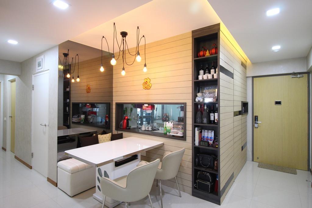 Modern, HDB, Dining Room, Tampines Central 8, Interior Designer, ChanInteriors, Chair, Furniture, Indoors, Interior Design