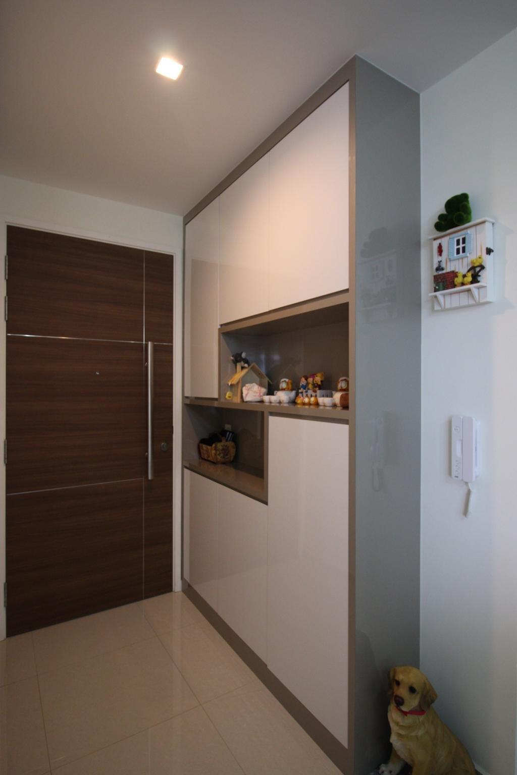 Contemporary, Condo, Living Room, Arc @ Tampines, Interior Designer, ChanInteriors, Shelf