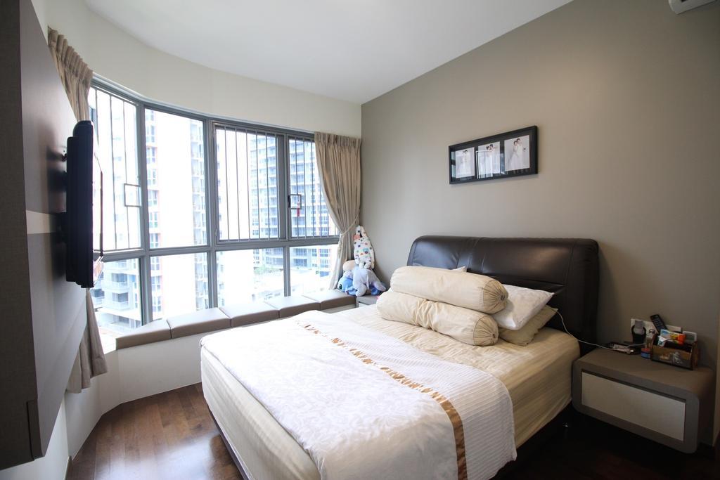 Contemporary, Condo, Bedroom, Arc @ Tampines, Interior Designer, ChanInteriors, Couch, Furniture, Indoors, Interior Design, Room, Bed