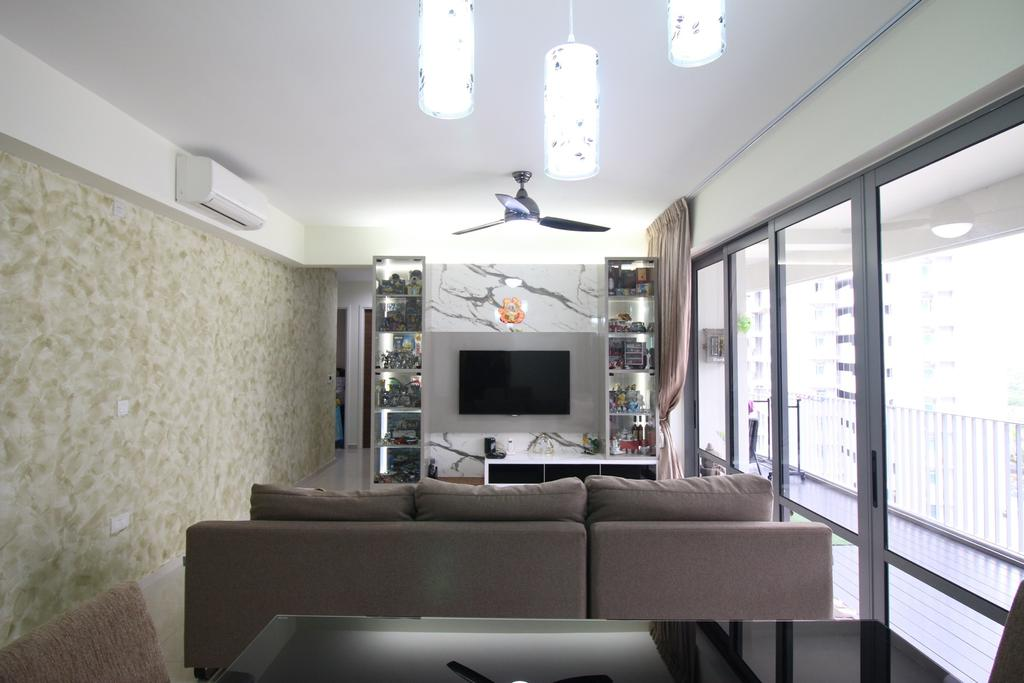 Contemporary, Condo, Living Room, Arc @ Tampines, Interior Designer, ChanInteriors, Electronics, Entertainment Center
