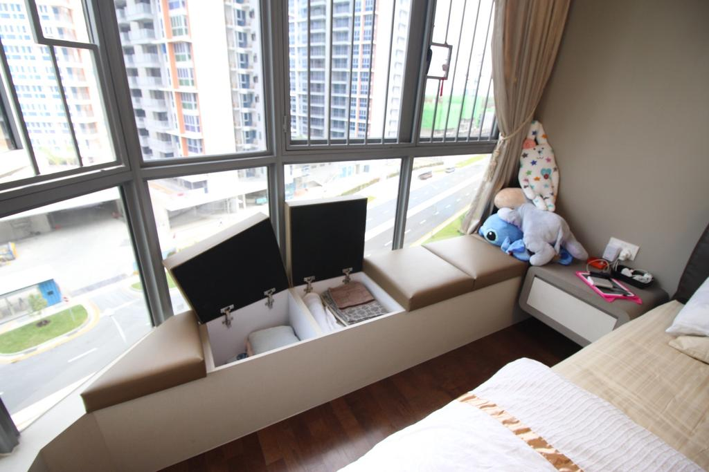 Contemporary, Condo, Bedroom, Arc @ Tampines, Interior Designer, ChanInteriors, HDB, Building, Housing, Indoors