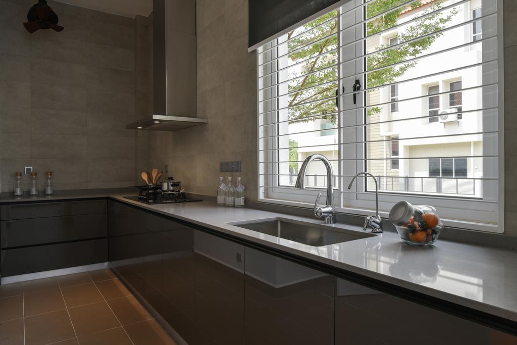 Minimalistic, Landed, Temasya, Glenmarie, Interior Designer, Surface R Sdn. Bhd., Contemporary, Modern, Indoors, Interior Design, Kitchen, Room