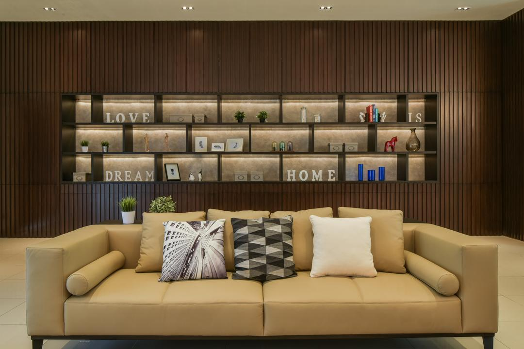 Temasya, Glenmarie, Surface R Sdn. Bhd., Minimalistic, Contemporary, Modern, Living Room, Landed, Couch, Furniture, Cushion, Home Decor