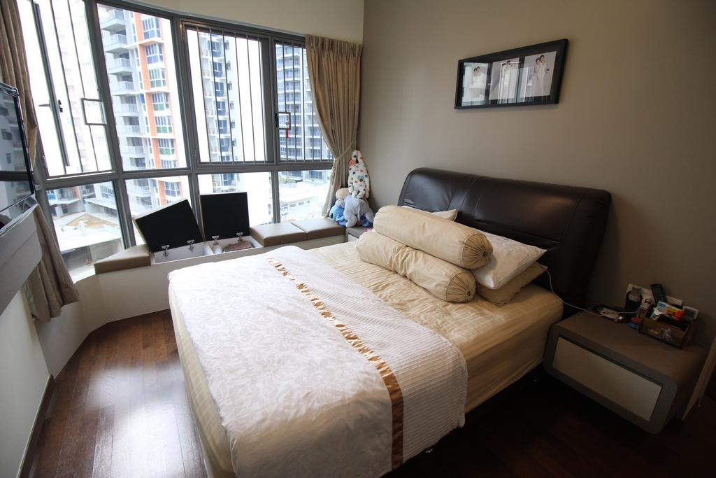 Contemporary, Condo, Bedroom, Arc @ Tampines, Interior Designer, ChanInteriors, Architecture, Building, Skylight, Window, Indoors, Interior Design, Room, Couch, Furniture