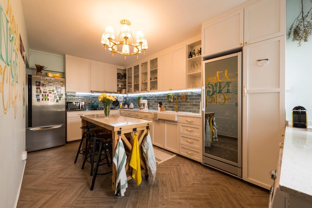 Scandinavian, HDB, Kitchen, Yishun Ring Road, Interior Designer, Project Guru, Dining Room, Indoors, Interior Design, Room