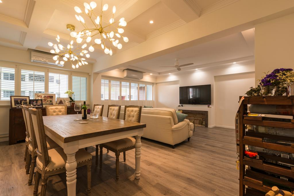 Scandinavian, HDB, Dining Room, Yishun Ring Road, Interior Designer, Project Guru, Flora, Jar, Plant, Potted Plant, Pottery, Vase, Couch, Furniture, Dining Table, Table, Indoors, Interior Design, Room, Bench
